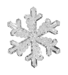 "9"" Clear Acrylic Snowflake Ornament (Set of 4)"