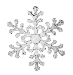 Clear Acrylic Snowflake Ornament