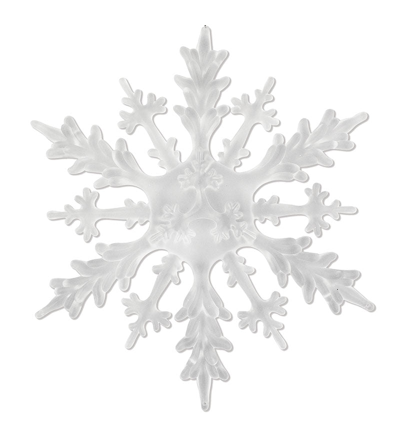 "9"" Snowy Outdoor Acrylic Snowflake Ornament"