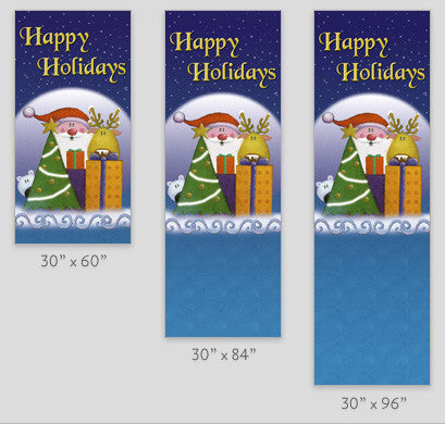Holiday Pals Light Pole Banner