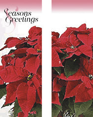 Potted Poinsettia Light Pole Banner (Double Set)