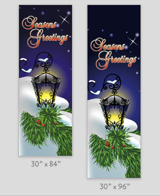 Snowy Lamp Light Pole Banner