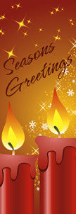 Seasons Greetings Candles Light Pole Banner