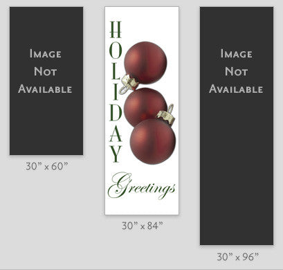 Holiday Greetings Ornaments Light Pole Banner