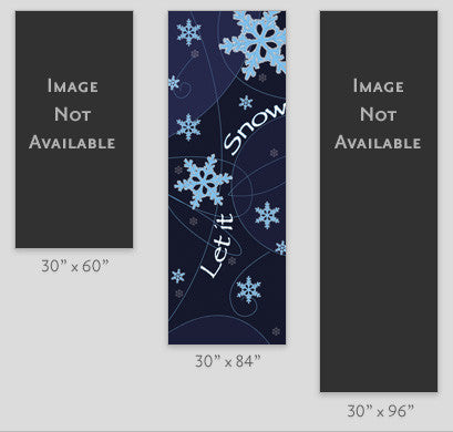 Let it Snow Light Pole Banner