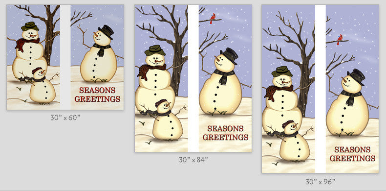Snow Family Light Pole Banner (Double Set)