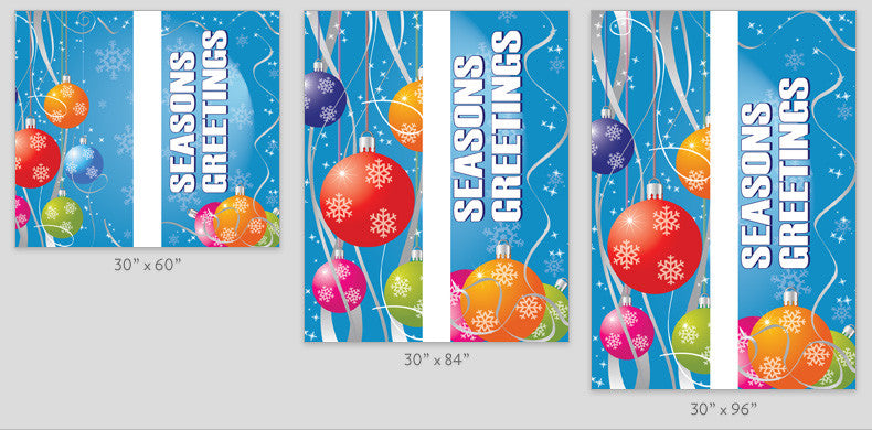 Ornament Drops Light Pole Banner (Double Set)
