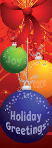 Holiday Greetings Ornament Light Pole Banner