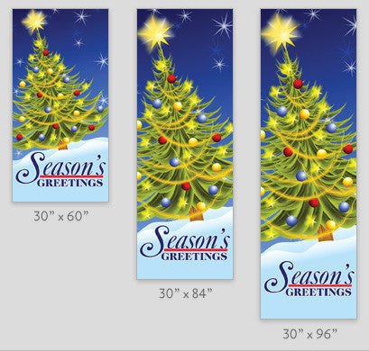 Electric Tree Light Pole Banner