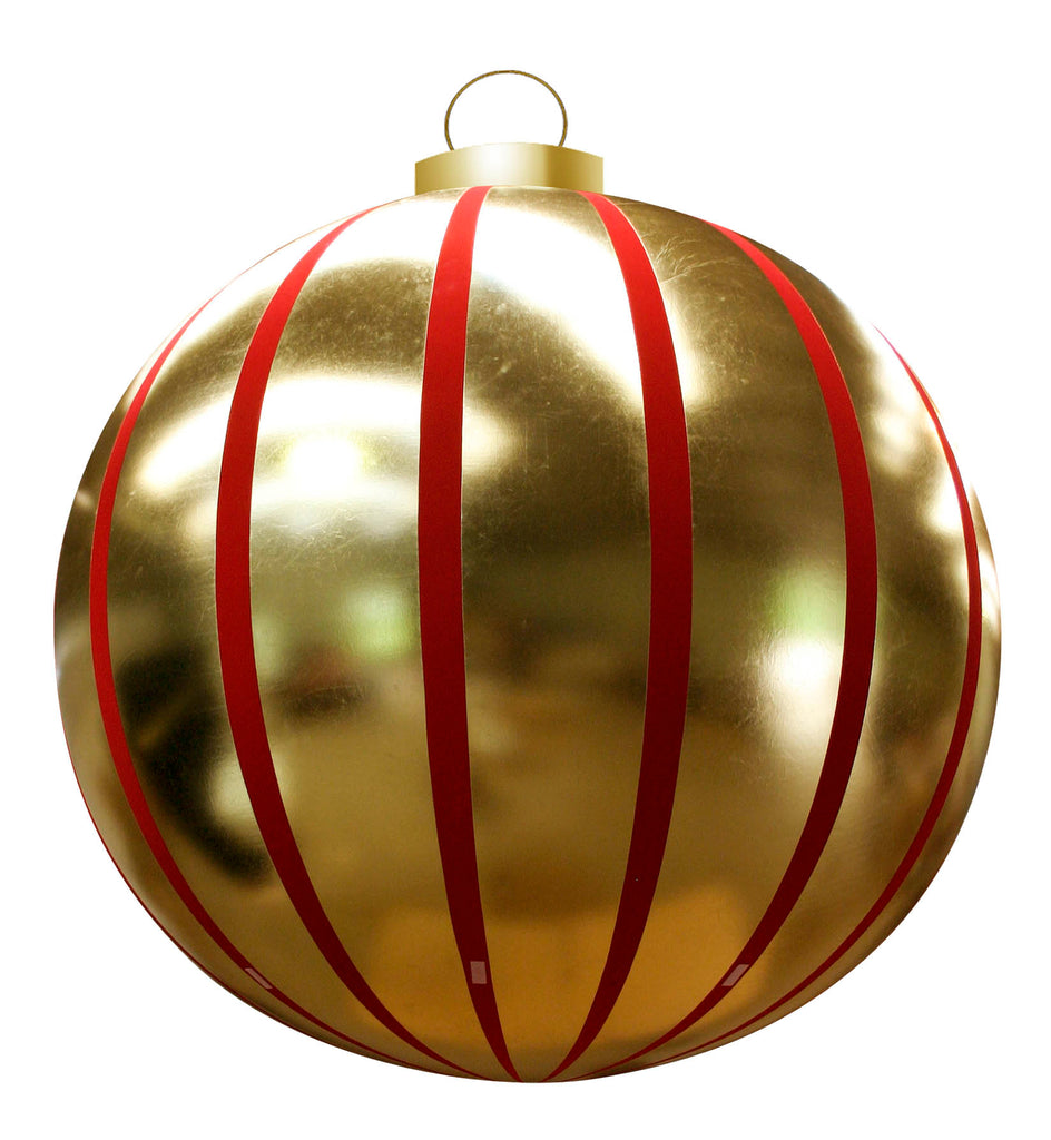 Giant Striped Round Inflatable Ornaments - 2 Sizes