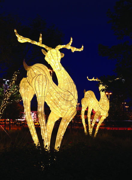 Giant Lit Metal Deer for Indoor Outdoor Display