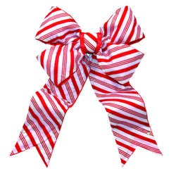 Candy Cane Striped Christmas Bow