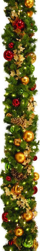 Classic Style Decorated Garland 10'
