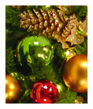 Classic Style Decorated Garland Close Up