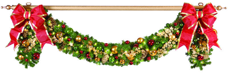 gold garland pole with finial commercial christmas supply