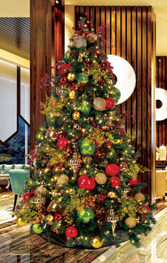 Mountain Pine Christmas Tree with Classic Decor Package