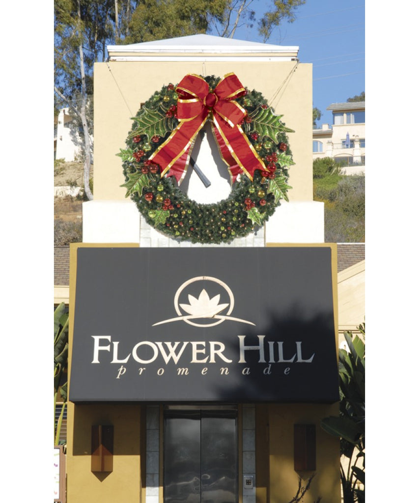 Commercial Outdoor Christmas Wreath Pre