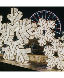 Giant Illuminated Snowflake Props