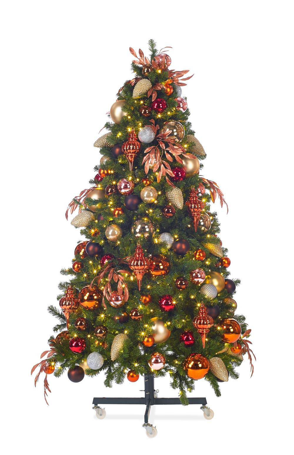 deluxe copper themed tree ornament package standard coopper themed tree ornament package - Copper Christmas Decorations