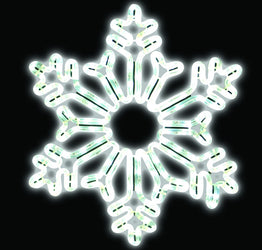 "LED Snowflake - 18"" Crystal Motiff"