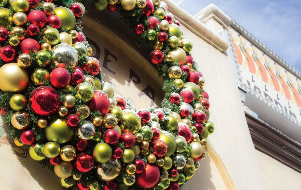 Custom Deluxe Decorated Commercial Christmas Wreath