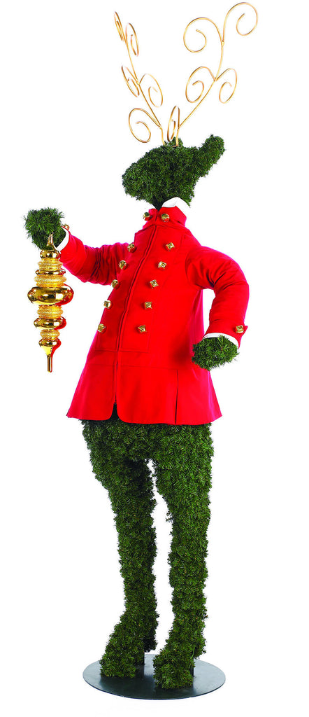 Standing Topiary Deer Greeter Christmas Prop