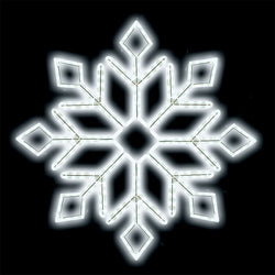 "24"" LED Ropelight Diamond Snowflake"