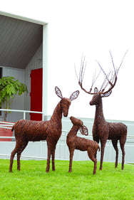 Grapevine Deer Decor Family