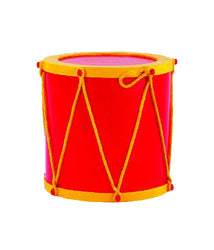 Red and Gold Fiberglass Drum Base