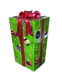Green Fiberglass Gift Box with LED Lighs