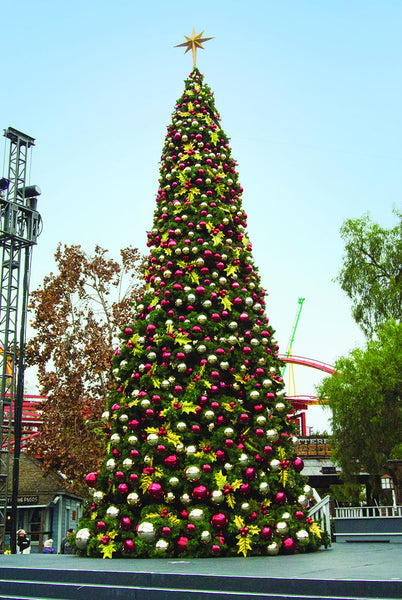 Giant Decorated Holly Tree