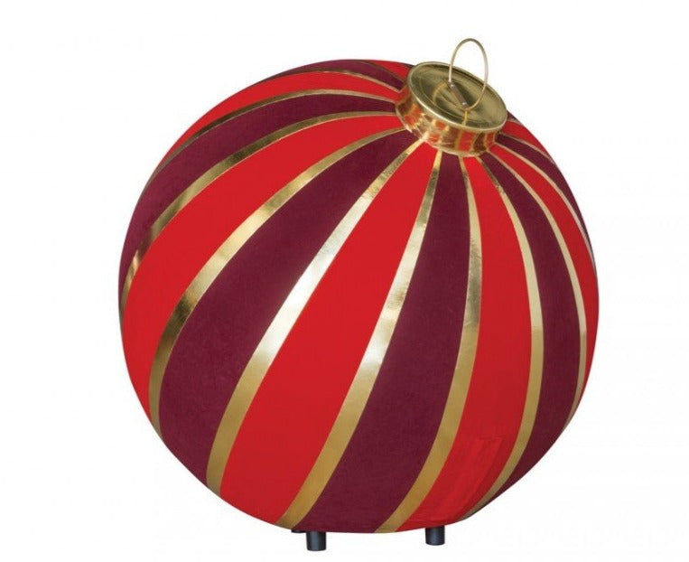 Floor Display Giant Striped Round Inflatable Ornaments - 2 Sizes
