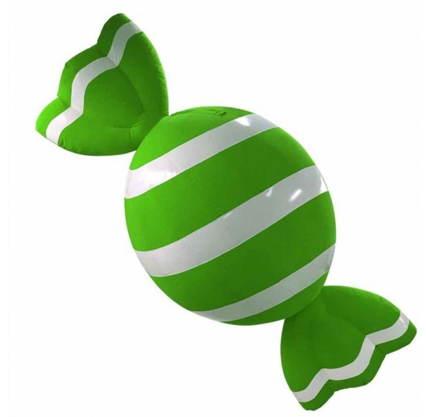 Giant Green and White Holiday Candy Inflatable Decoration