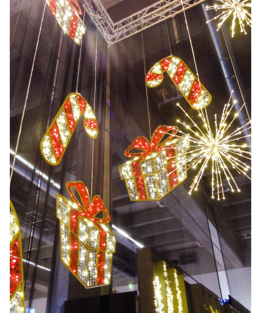 LED Illuminated Overhead Mall Decoration