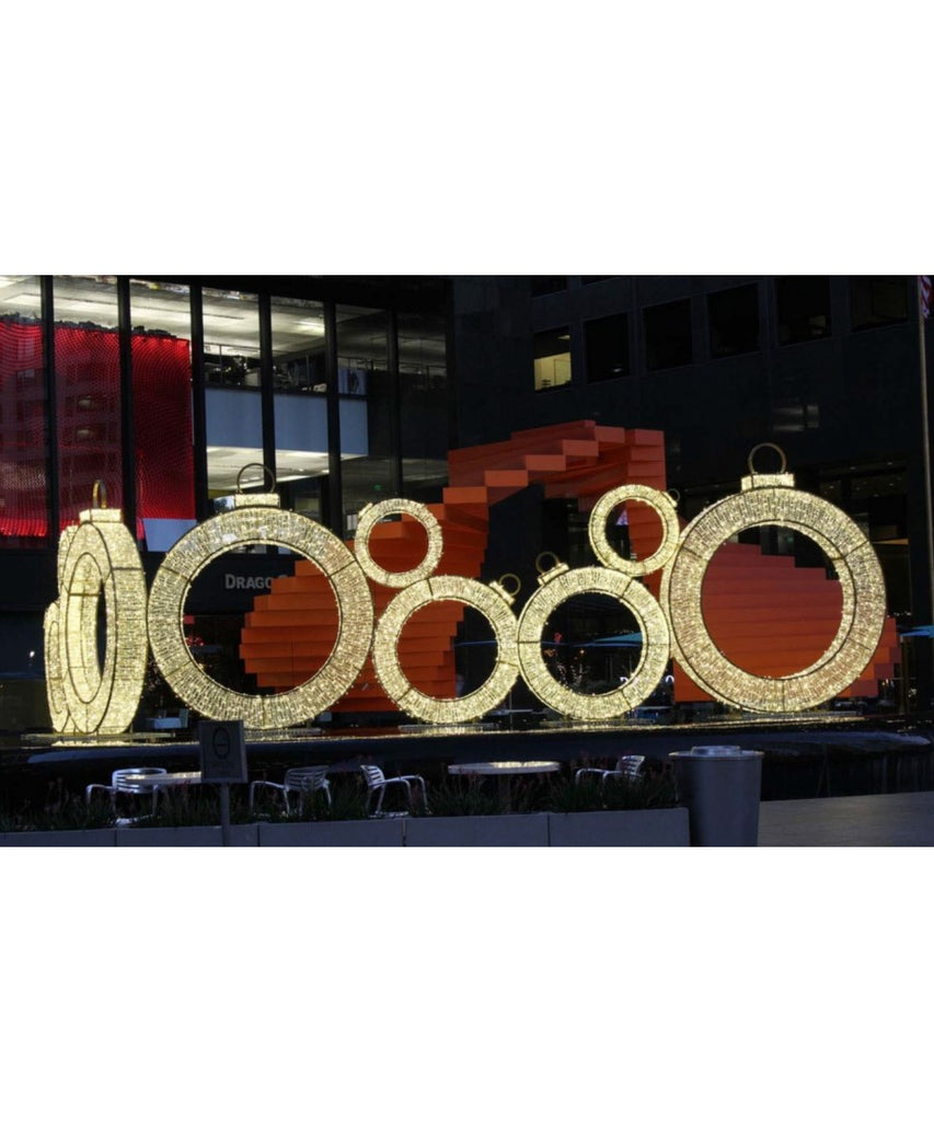 Giant Illuminated Ornament Rings
