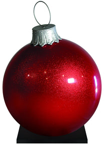 Giant Red Glitter Ornament