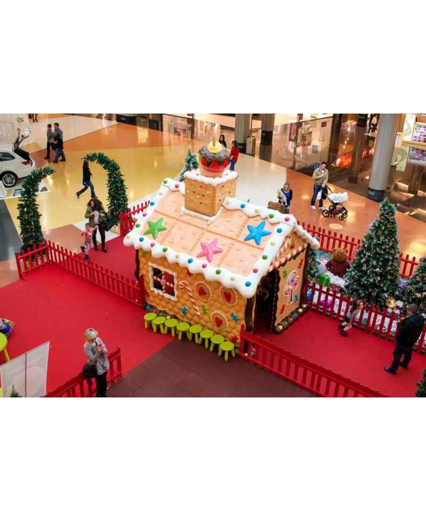 Life Size Gingerbread Santa House