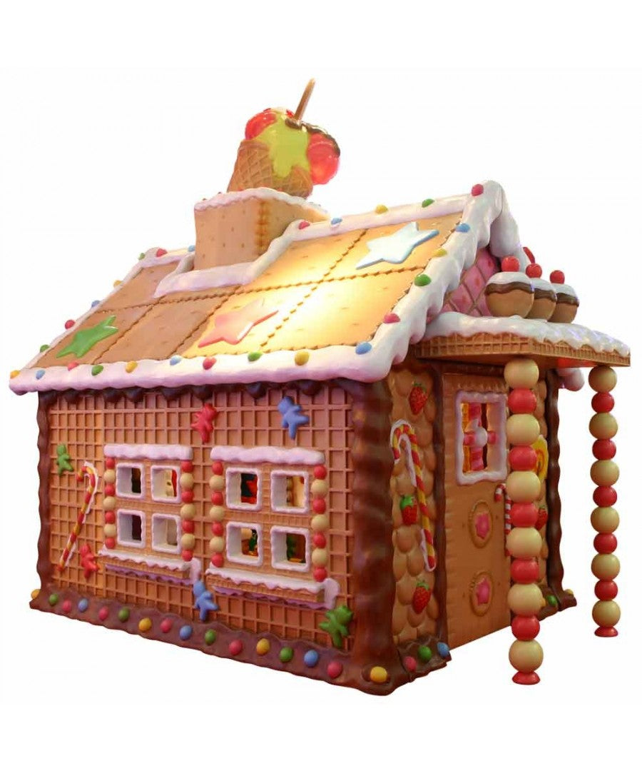 Life Size Santa Gingerbread House - Indoor or Outdoor Use