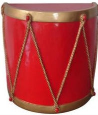 Red and Gold Half Drum Base Prop