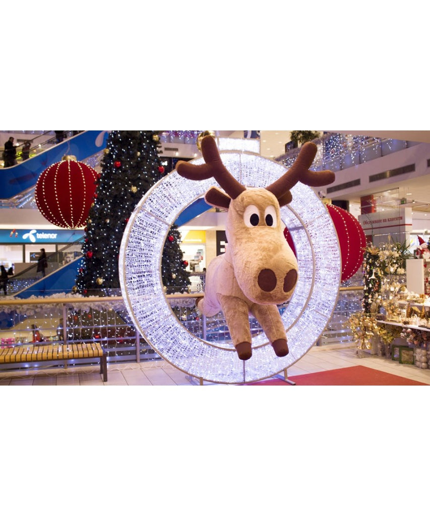 Hanging Inflatable Reindeer Mall Christmas Decoration