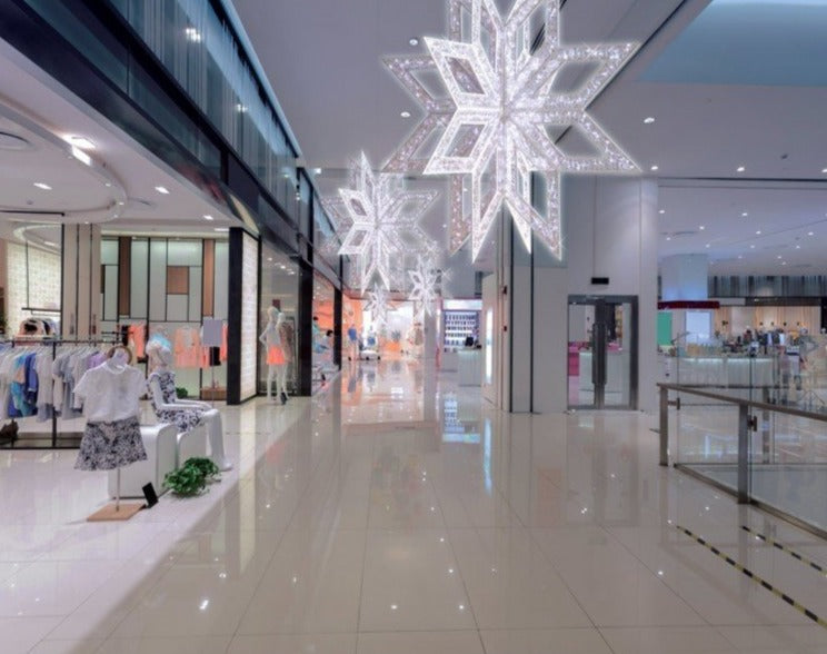 Retail Hanging Christmas Winter Decoration Lit