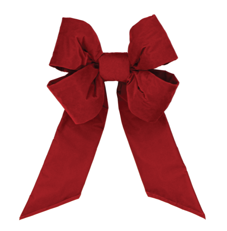 Holiday Red Velvet Bow - No Trim