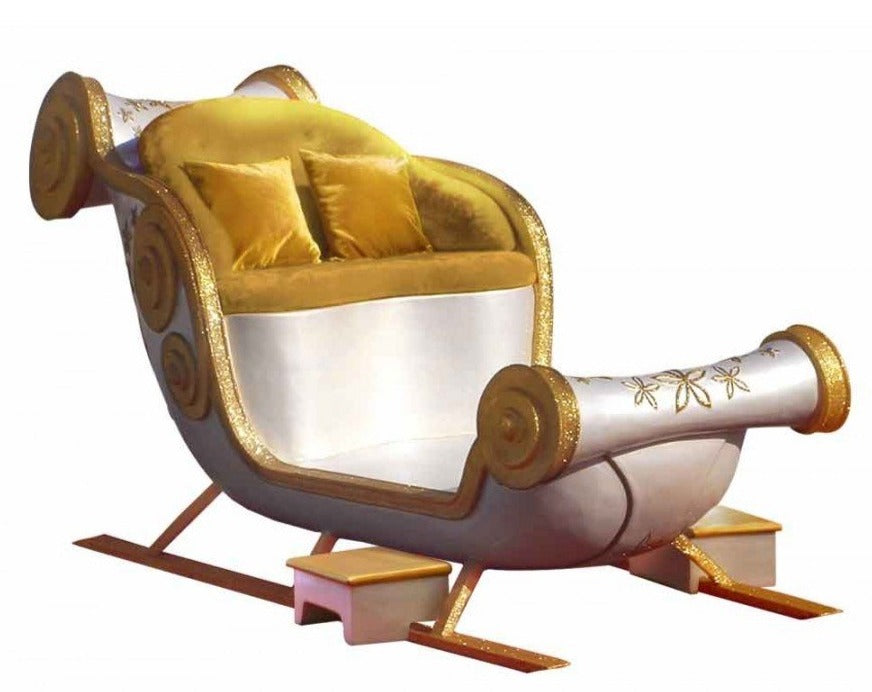 Majestic Gold and Silver Santa Throne Sleigh