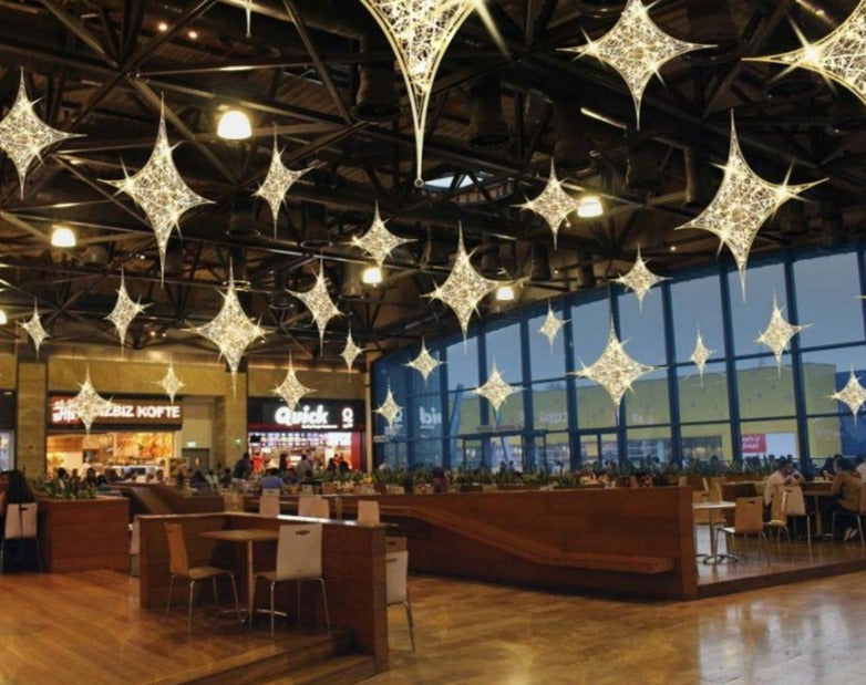 Food Court Overhead Lit Holiday Decoration