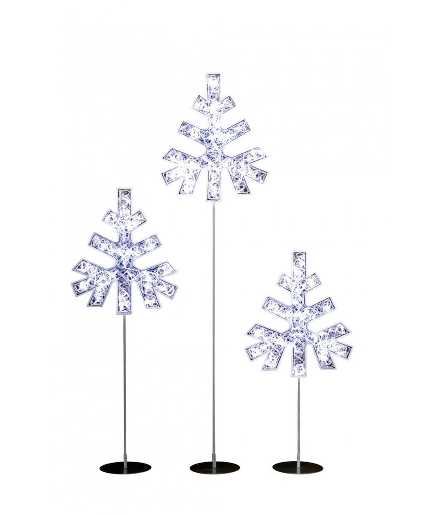 LED Lit Snowflake Tree Decor Set