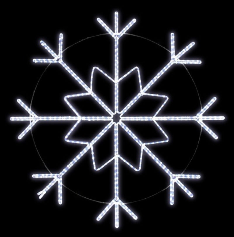 Icy LED Snowflake Pole Decoration