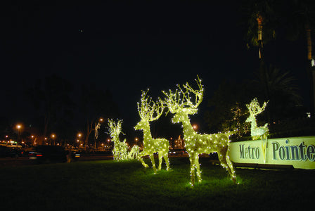 Lit White Lawn Deer