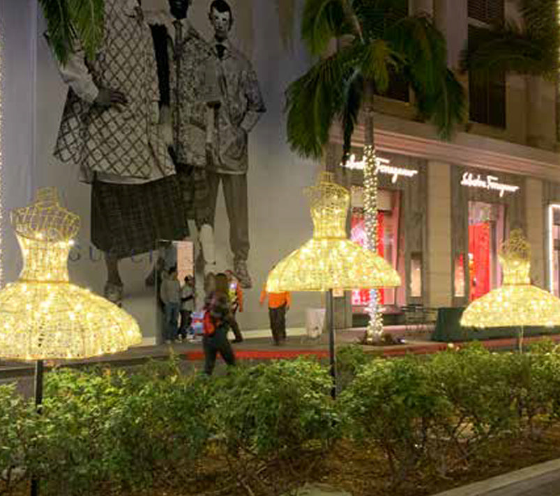 Mixed Use Development with Outdoor LED Lit Dress Decoration