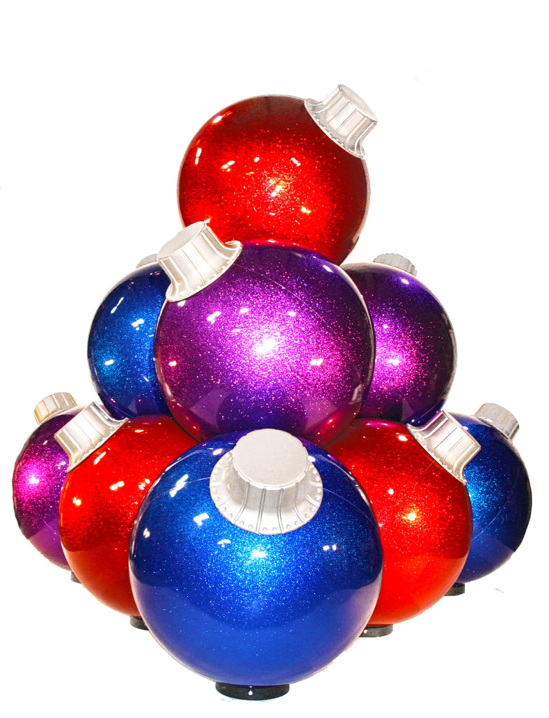 10 Ball Christmas Ornament Stack