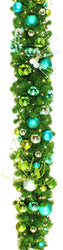 Coastal Decorated Garland 10'